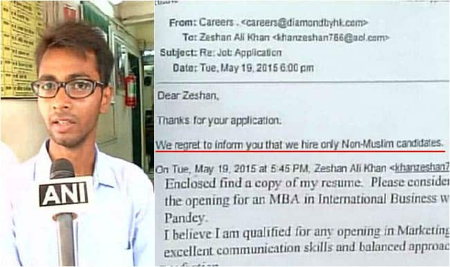 Muslim MBA graduate denied job because of his religion!