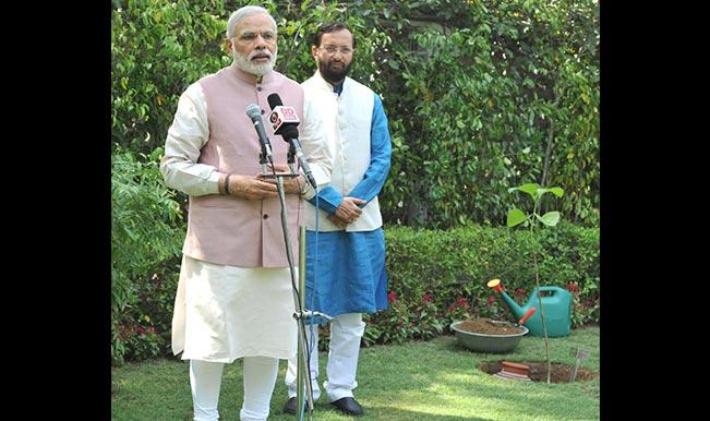 Narendra Modi shows his green side, plants sapling at 7 RCR on World Environment Day