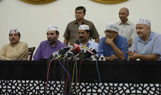 AAP holds dharna