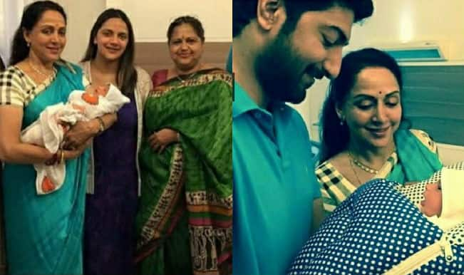 Ahaana Deol Vohra gives birth to a baby boy: First pictures of Dharmendra and Hema Malini's grandson revealed!