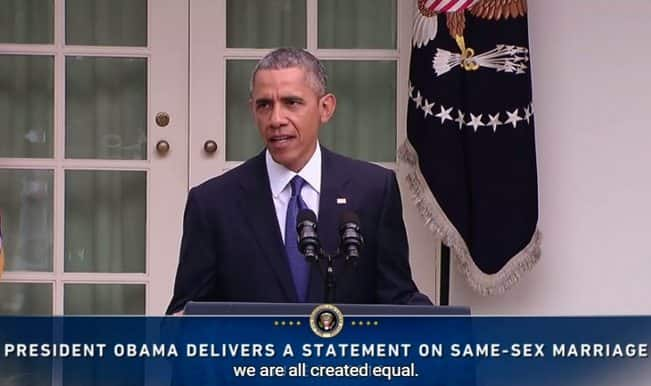 Barack Obama speaks on the US Supreme Court's decision on Marriage Equality (Video)