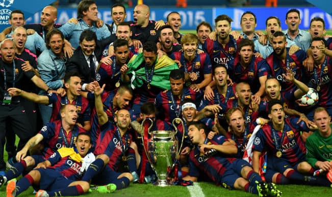 Barcelona beat Juventus 3-1 to win UEFA Champions League 2014-15; complete CL treble