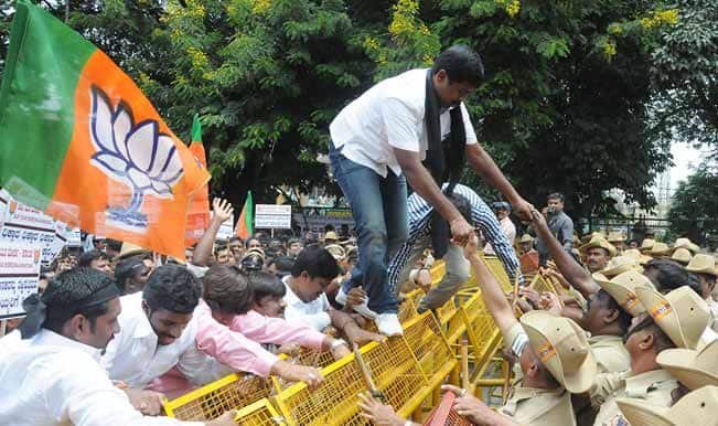 BJP stages protests outside Delhi Jal Board offices