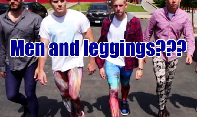 Ever imagined men in leggings? Watch to know the latest trend happening around