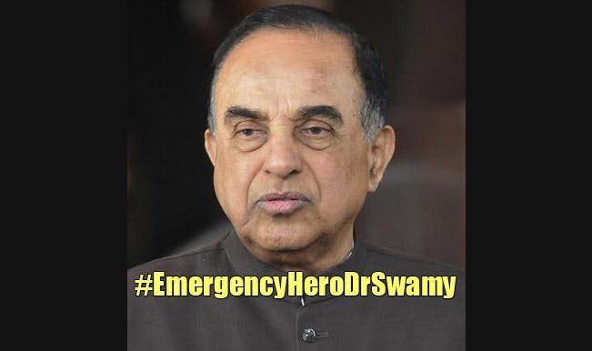#EmergencyHeroDrSwamy: Twitterati calls Subramanian Swamy as One Man Army