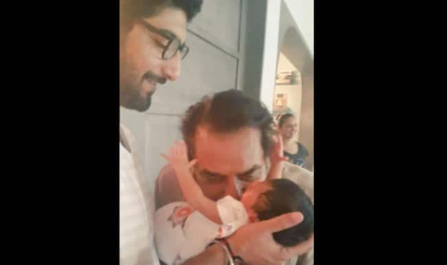 Esha Deol shares picture of new born nephew with Dharmendra