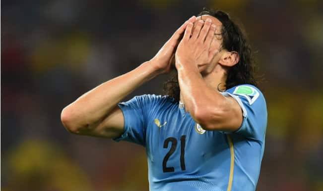 Copa America 2015: Edinson Cavani sent off after getting his anus fingered by Chile player