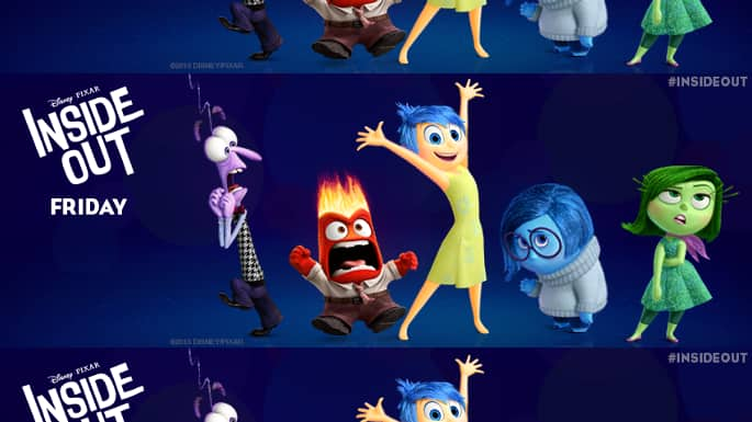 Disney's New Animated Film 'Inside Out' Projected to Triumph at Box Office