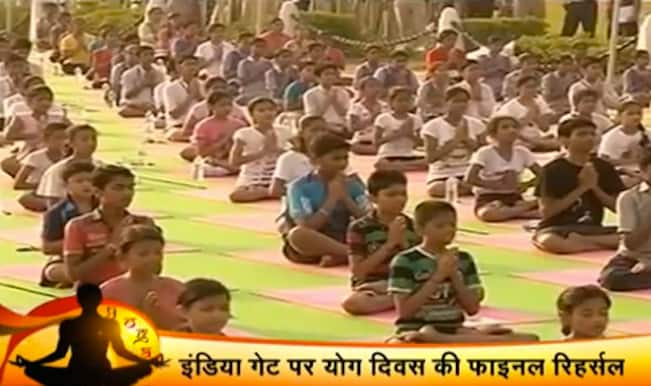 International Yoga Day dress rehearsals begin at India Gate in Delhi (Watch video)