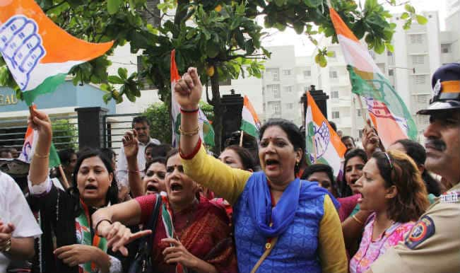 Mahila Congress protests against BJP government at Jantar Mantar