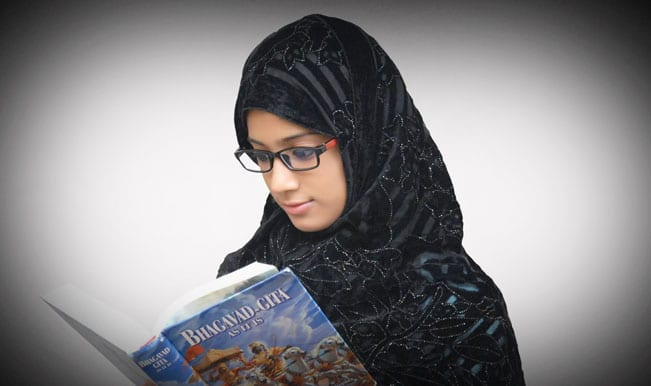 Muslim girl Mariyam Asif Siddiqui who won Bhagavad Gita competition donates reward money for girl child education