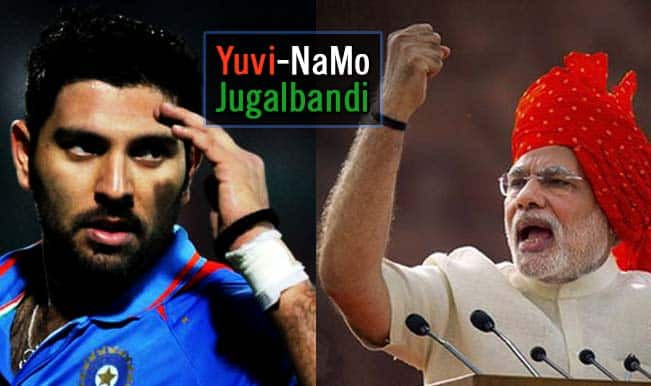 Yuvraj Singh wishes Prime Minister Narendra modi with a stupendous Velfie on Instagram!