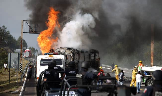 Ballots burned by Protesters in attempt to block Mexico midterm elections