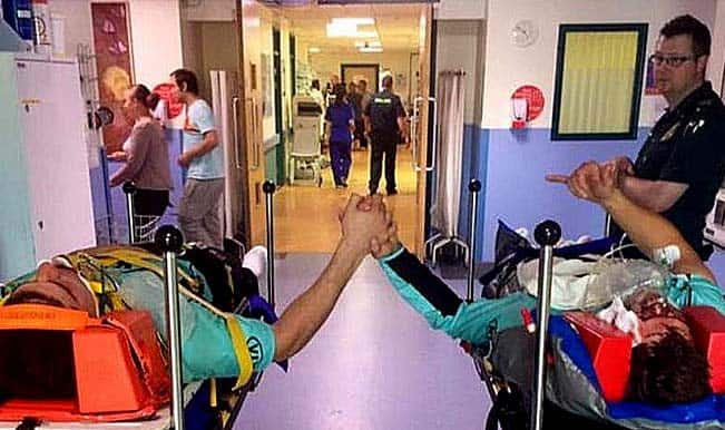 Moises Henriques & Rory Burns hold hands at hospital, tweets heart-touching picture!