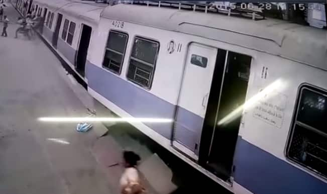 Shocking! Local plunges into Churchgate station in Mumbai (Watch Video)