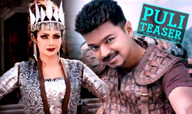 Puli Teaser: Ilayathalapathy Vijay, Sridevi starrer adventure fantasy leaves an electrifying impact