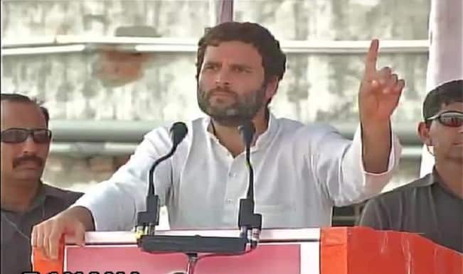 Rahul Gandhi takes on Narendra Modi; accuses government of land grabbing