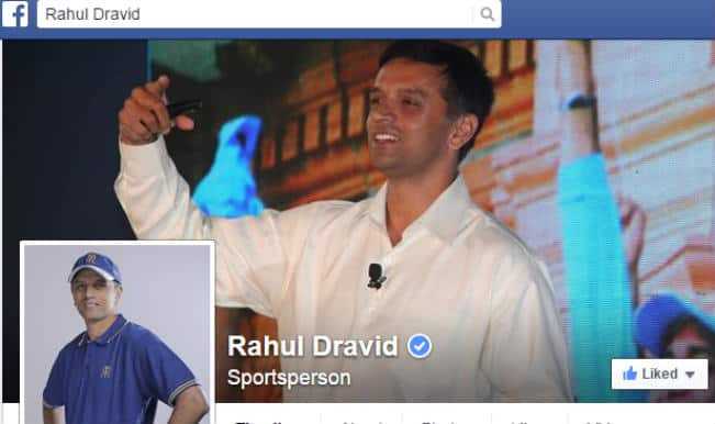 Rahul Dravid now on Facebook, shares his first video