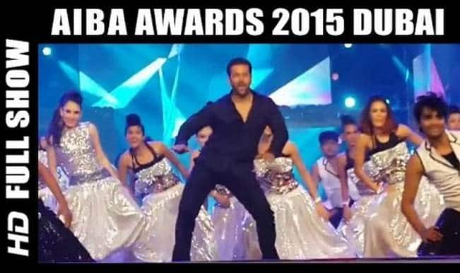 Salman Khan's AIBA 2015 performance and hot B-town beauties on red carpet! (Watch video)