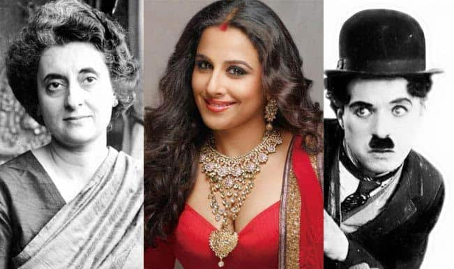 Charlie Chaplin to Indira Gandhi: Vidya Balan wants to play them all!