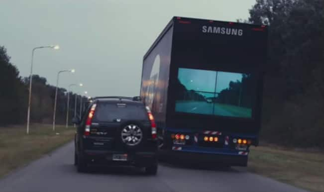 Samsung comes up with 'safety truck' idea and it really can improve road safety: Watch Video
