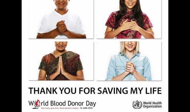 World Blood Donor Day 2015: Save 3 lives, each time you donate blood (Watch video)