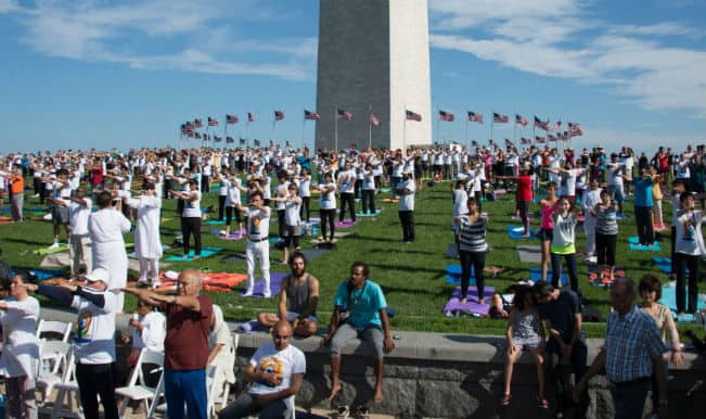 Americans do yoga from East to West coast