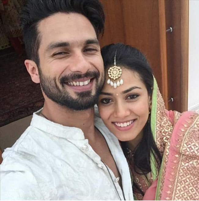 Shahid Kapoor shares first selfie with wife Mira Rajput