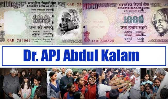 Dr APJ Abdul Kalam on currency; birthday celebrated as Children's Day? Pictures go viral!