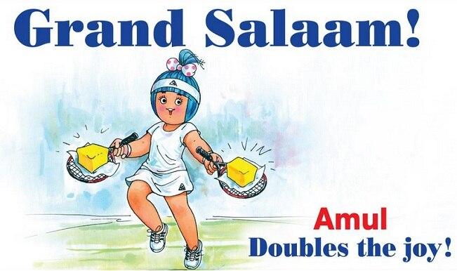 Amul girl salutes Sania Mirza for Wimbledon 2015 triumph