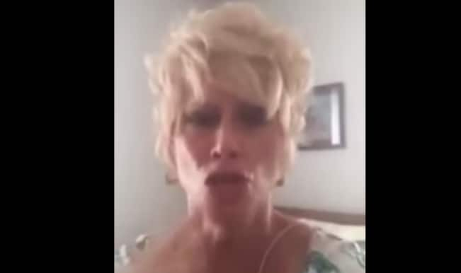 Woman goes on crazy rant against legalization of Gay marriage & USA Government (Watch Video)