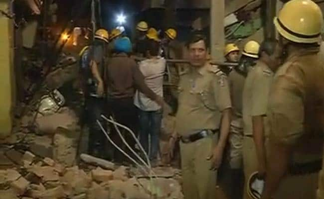 Delhi house collapse: Search for nine-year-old on