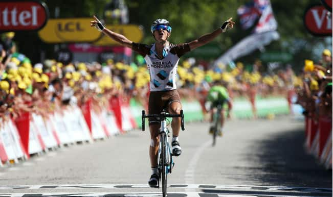 Alexis Vuillermoz wins eighth stage of Tour de France