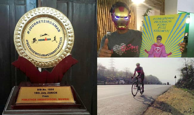 Model-actor Milind Soman wins the Ironman title at the toughest Triathlon!
