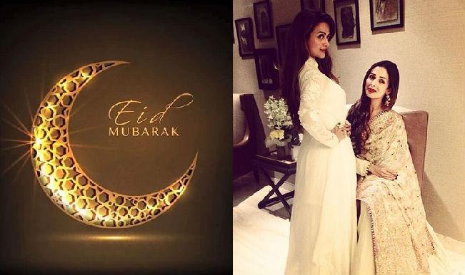 Eid Mubarak 2015: Malaika Arora Khan looks stunning in ivory gharara designed by Rimple and Harpreet Narula