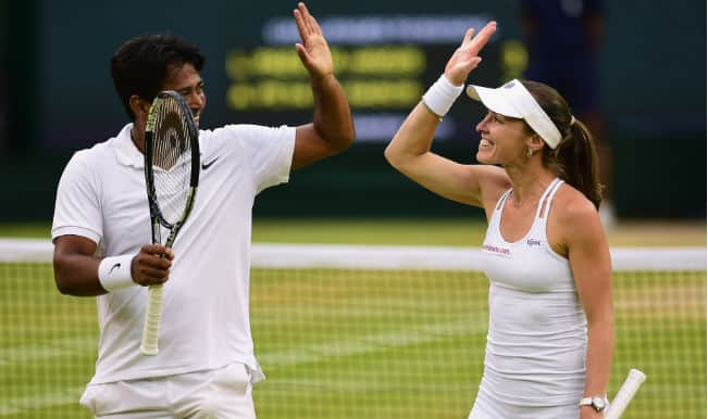 Leander Paes and Martina Hingis vs Alexander Peya and Timea Babos, Wimbledon 2015 Mixed Doubles Final Video Highlights