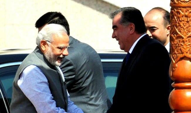 Narendra Modi presents Tajikistan president miniature painting