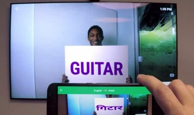 Look! Google Translate App instantly translates printed text through your camera phone!