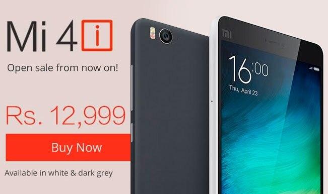 Xiaomi Mi 4i available on open sale on Mi.com