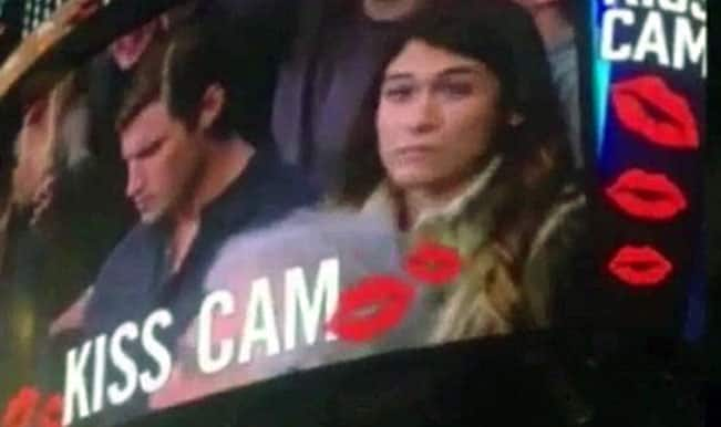 Kiss Cam: Her husband refused to kiss her so she decided to take drastic steps
