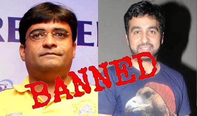 IPL spot-fixing: Gurunath Meiyappan, Raj Kundra banned from cricket for life