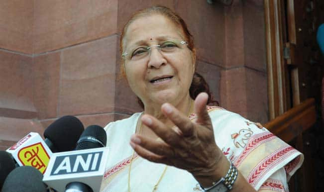 Sumitra Mahajan: No one approached me for revoking MPs' suspension
