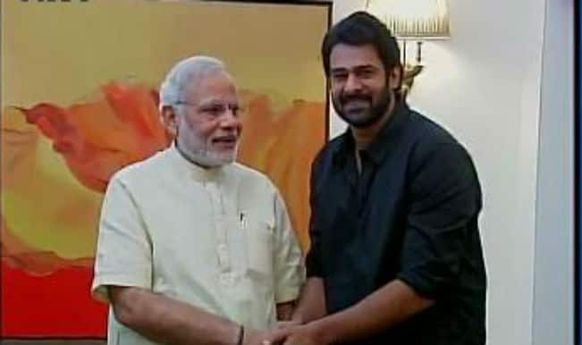 Telugu actor Prabhas meets Narendra Modi, asks him to watch Baahubali