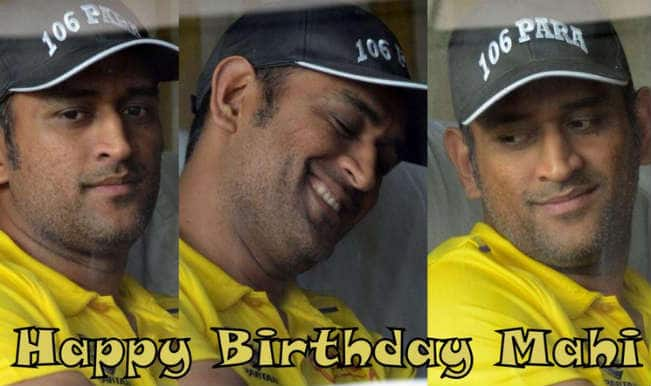 Happy Birthday Dhoni: Twitterati wish 'Captain Cool' Mahendra Singh Dhoni on his 34th Birthday