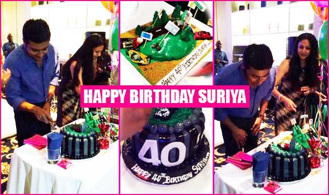 Suriya turns a year older; cuts his 40th birthday cake with wife Jyothika