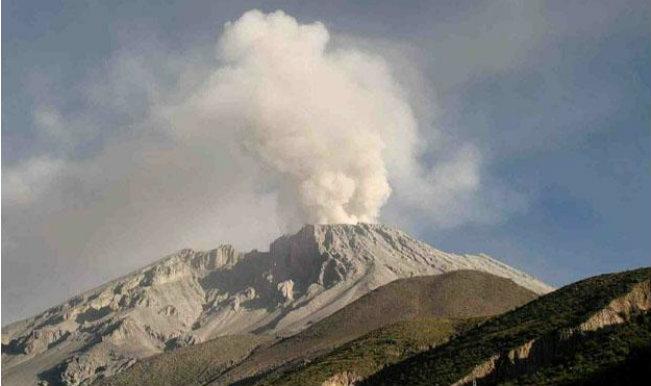 Peru volcano erupts sending ash across 15-km radius