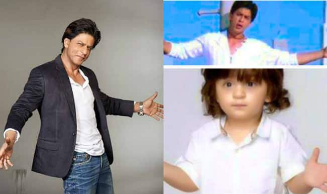 It's in the Genes: When AbRam copied Shah Rukh Khan's signature pose!