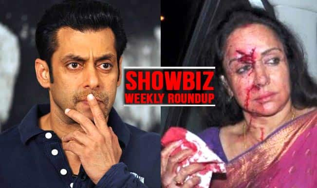 Showbiz Weekly Roundup: Hema Malini meets with a major accident; Bombay HC adjourns hearing in Salman Khan 2002 hit-and-run case