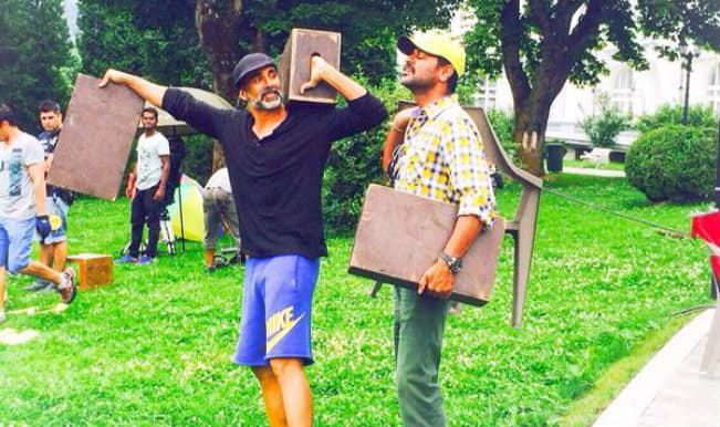 Singh Is Bliing: Akshay Kumar shares pictures from the sets of Prabhu Deva's next!