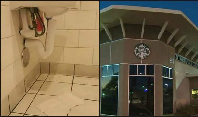 Shame! Hidden cellphone camera found in Starbucks's toilet by mother and son (Watch video)